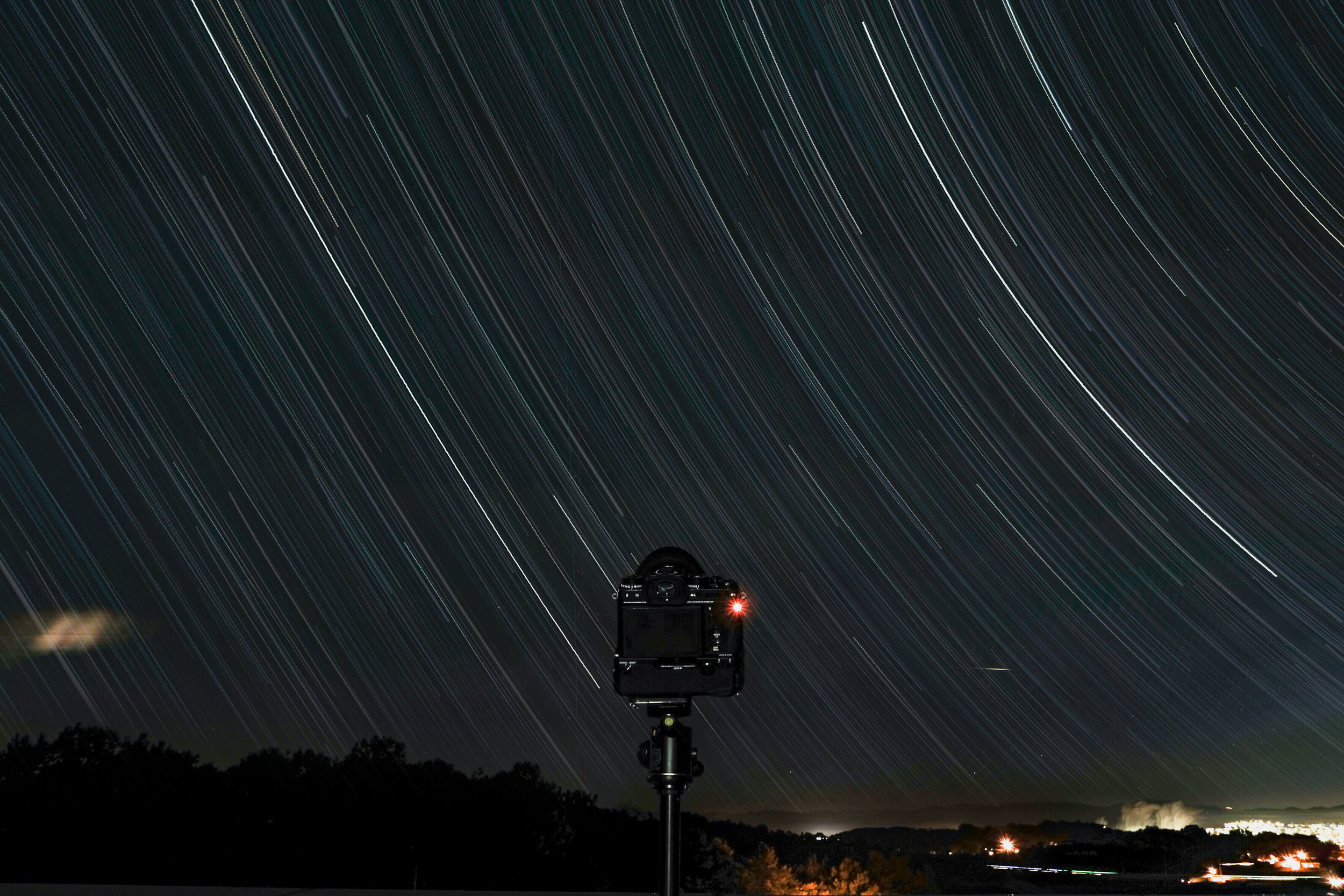 Star trails would be impossible without a solid support for the camera and lens.