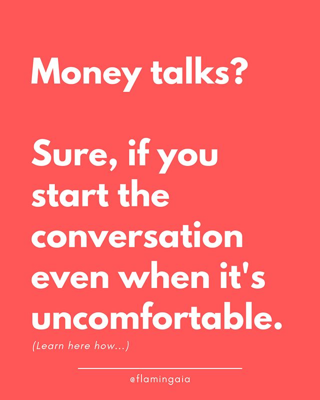 "(Part 2 of 2)⁣⁣ ⁣⁣⁣⁣ ⁣⁣#MoneyTalk! Take control of the situation and turn the tables by uncovering the uncomfortable.⁣⁣ ⁣⁣⁣⁣ ✌️HOW TO HANDLE THE TALK WITH: ⁣⁣✅ FRIENDS/FAMILY⁣ ⁣This might be the hardest to tackle because of the emotional involvement. One easy way is connecting it to a positive motivation, like: ""Hey Bill, how about coffee is your gift to me because I just run 10km today! 10km!!!"" and you move on talking about the 10km and how happy and pumped you are. ⁣⁣ ⁣⁣But to me, the best solution is, to be honest. ⁣⁣ ⁣⁣State the facts of the situation and how such behavior makes you feel, then give them control over it by asking them an open question: ""Listen Bill, all these coffees are getting very expensive for me, only in the last month I paid $140 for yours and since you don't offer any yourself, this behavior makes me feel not valued as a friend but only as the person that pays your coffee. What can we do to improve this situation?"". ⁣⁣ ⁣⁣If Bill has truly your friendship at heart, he will suggest something that improves the state of your relationship - and of your wallet!⁣⁣ ⁣⁣⁣⁣ ⁣⁣✅ JOB INTERVIEW ON LOCATION⁣ ⁣BEFORE a job interview on location, ASK HR what's the Company policy on travel expenses reimbursement, giving them the chance to choose between 2 options that work for you.⁣⁣ ⁣⁣A great leading question that works for me is: ""Is the company XYZ buying the tickets in advance or should I just share the receipts and other costs afterward?""⁣⁣ ⁣⁣⁣⁣ ⁣⁣✅ CLIENT MEALS⁣ ⁣In this case, I would suggest at least a 50/50 or each pays its own, no strings attached. ⁣ ⁣When the bill arrives, present your card and calmly say: ""Please, I'd be happy to pay half of it, thank you"" (do NOT mention the other half) or ""I'd be happy to pay for my salad/pasta/hamburger/… and wine/water/beer…"". Naturally, the waiter will turn to the other party for the rest of the bill, and TA-DANNNN! The goal is reached with the least amount of pain.⁣⁣ ⁣⁣⁣⁣ ⁣⁣These are my thoughts on how to approach the Money Talk.⁣⁣ ⁣⁣But how do you do it? What's your best tip in either of the situations above?⁣⁣ ⁣⁣⁣⁣ ⁣⁣Share it in the comments below, I'm super curious to hear about your strategies 😊"