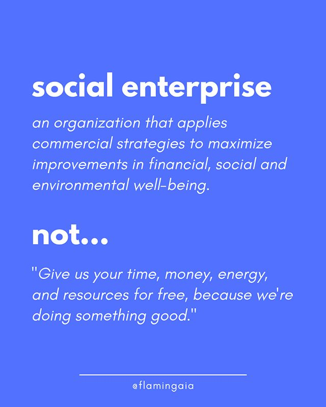 "I'm gonna keep this short and sweet: ⁣⁣ ⁣⁣👉 Just because an organization is supposedly or actively doing something for the well-being of others, it does NOT automatically mean they deserve all the resources you can give them, for FREE.⁣⁣ ⁣⁣⁣⁣ ⁣⁣In my years of working with Social Enterprises and Impact Brands, I came across countless collaboration requests that started with ""We need that (site, promotion, funding, interns…)"" and ended with ""But we can't pay, so it has to be done for free"".⁣⁣ ⁣⁣⁣⁣ ⁣⁣👻 NEWS FLASH: this might be common, but it is not how it works!⁣⁣ ⁣⁣⁣⁣ ⁣⁣As any for-profit business, the BEST Impact Brands and Social Enterprises out there are the ones that not only recognize the value they are bringing to this world, but they recognize the value of the people supporting them on that journey.⁣⁣ ⁣⁣Which means:⁣⁣ ⁣⁣✅ They have a long-term business plan and business strategy.⁣⁣ ⁣⁣✅ They focus on sustainability first, and scaling up later.⁣⁣ ⁣⁣✅ They all share the goal of abandoning the need for government or donor support - and often use for-profit business strategies to fund their social change.⁣⁣ ⁣⁣⁣⁣ ⁣⁣So if a company -*any* company!!!- keep asking for free support and have no action plants to become self-sustainable, rest assured they either will shortly fail or they might not be as for-good as they seem…⁣⁣ ⁣⁣⁣⁣ ⁣⁣👉 Check out the Impact Brands and Entrepreneurs tagged in the image 👆 They are truly Social, deeply sustainable, and madly inspiring!⁣⁣ ⁣⁣⁣⁣ ⁣⁣ 🙌 Do you know some more inspiring Impact Brands and people? Share the love and tag them here below! 👇"