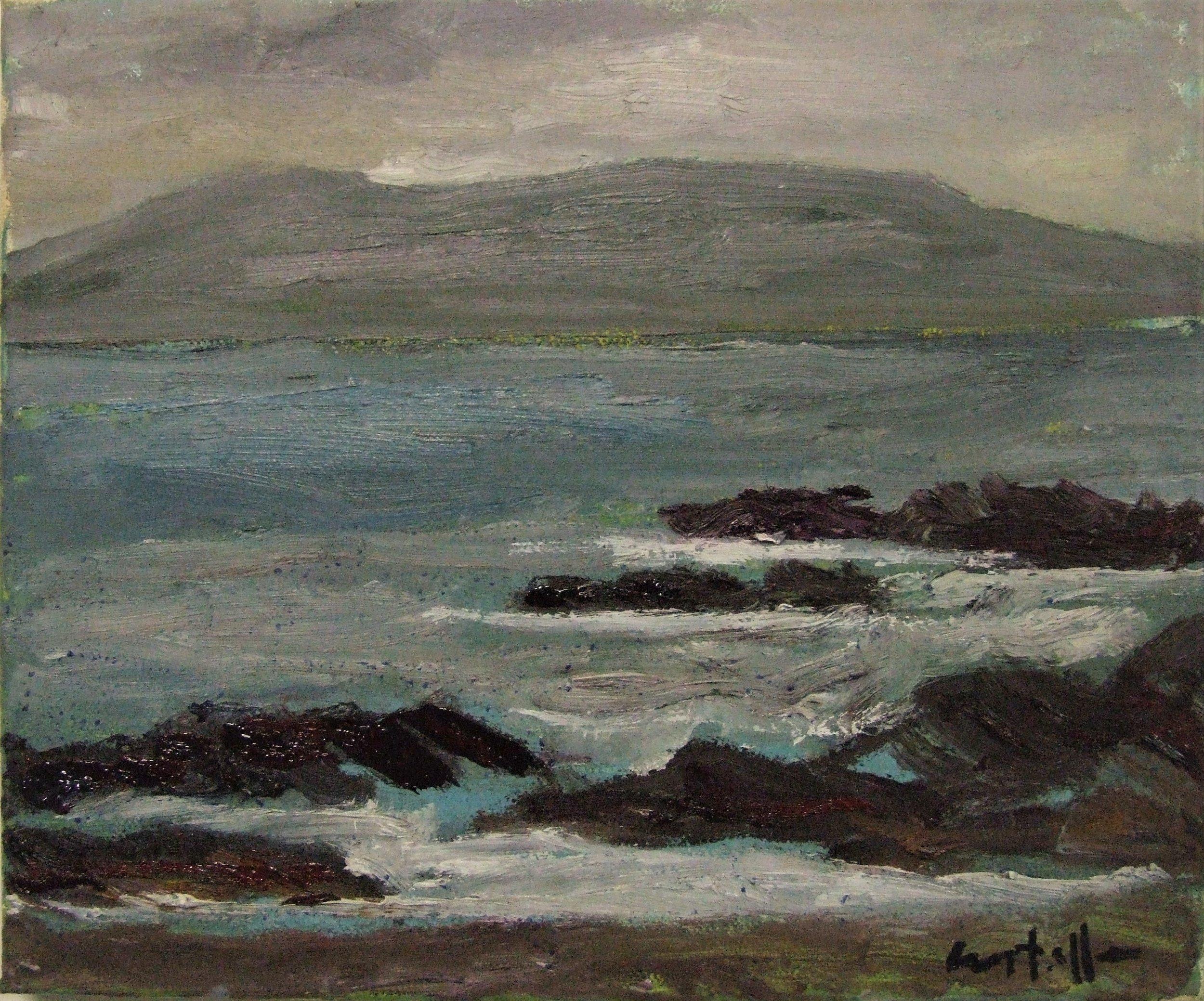 Grey mountain, 2016, oil on canvas, 25 x 30 cm