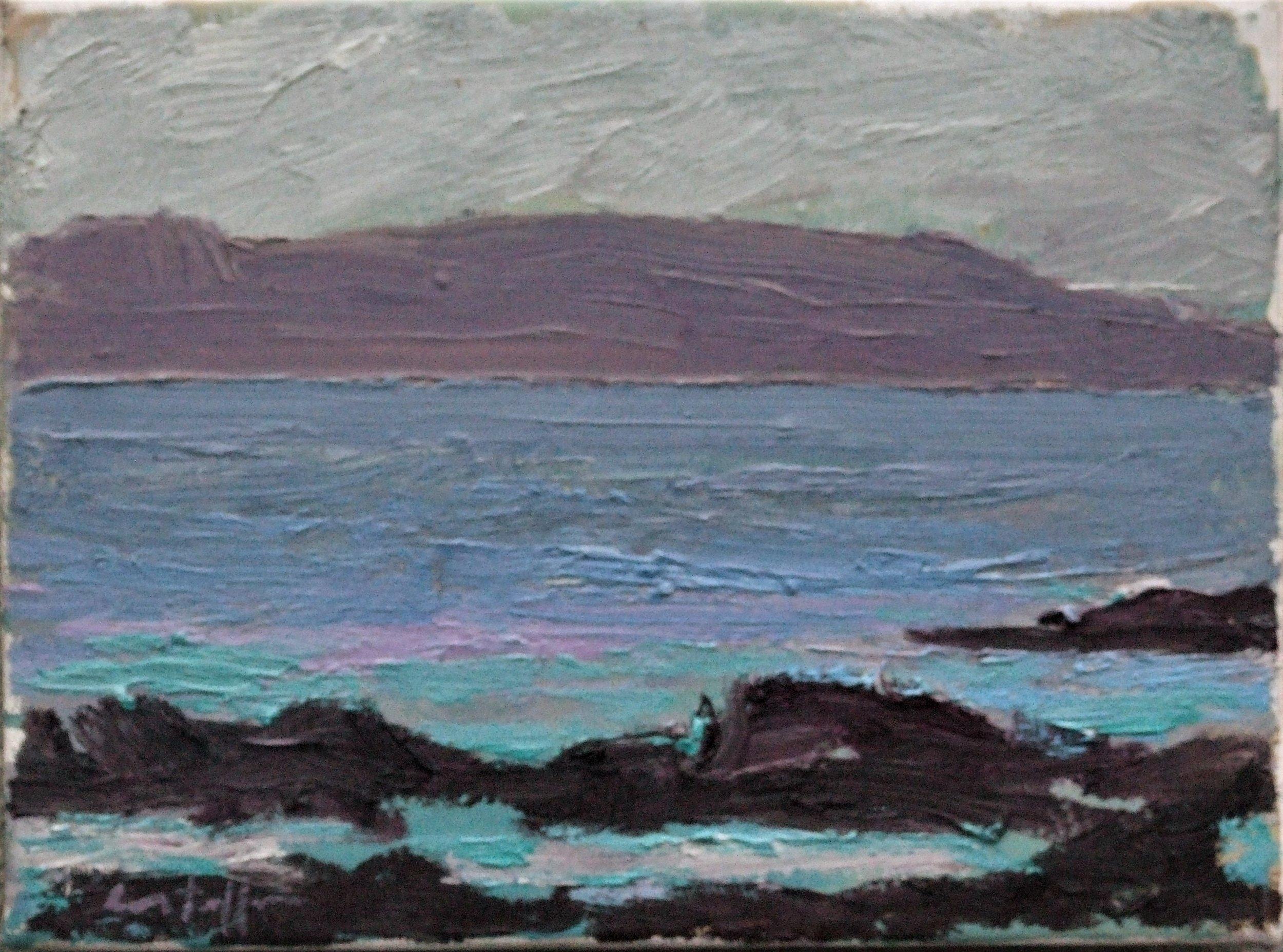 Shore Study, 2016, oil on canvas, 18 x 24 cm