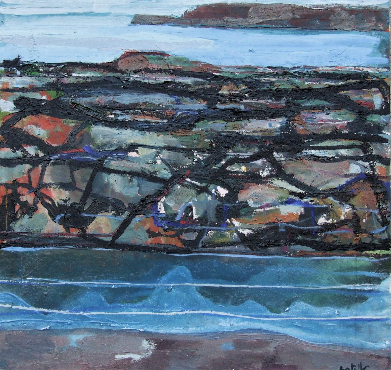 Still Water, Bunowen, 2017, oil on canvas, 61 x 62.5 cm