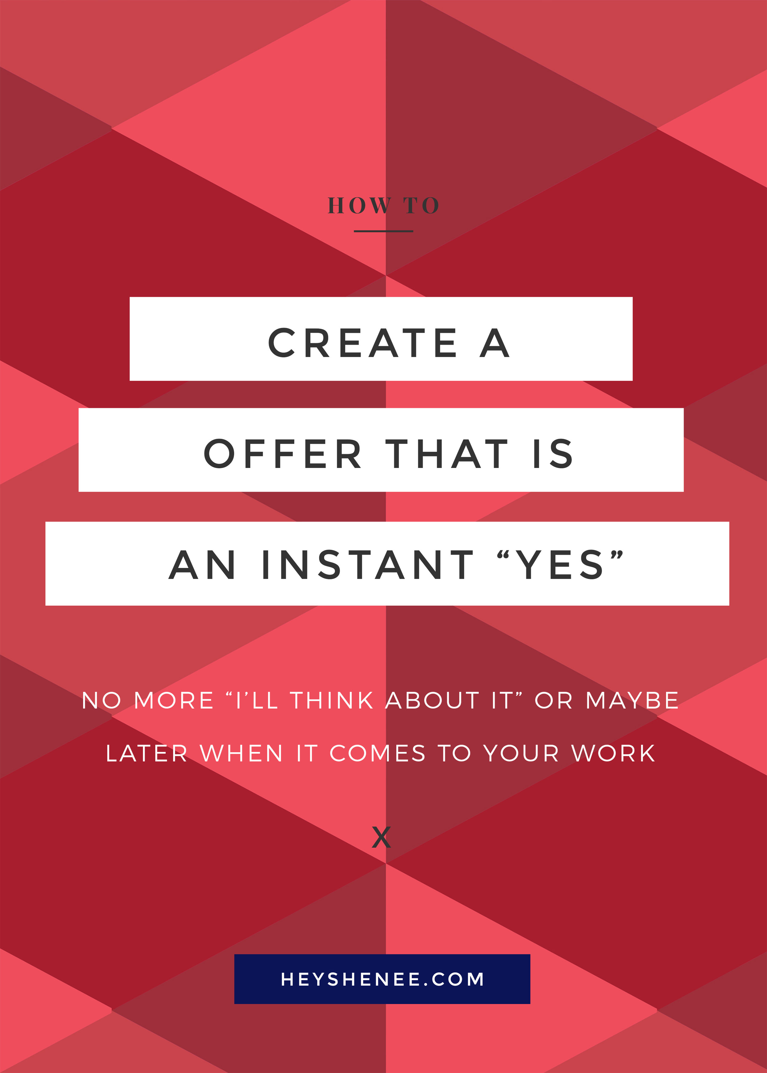 Create a offer that is an instant YES