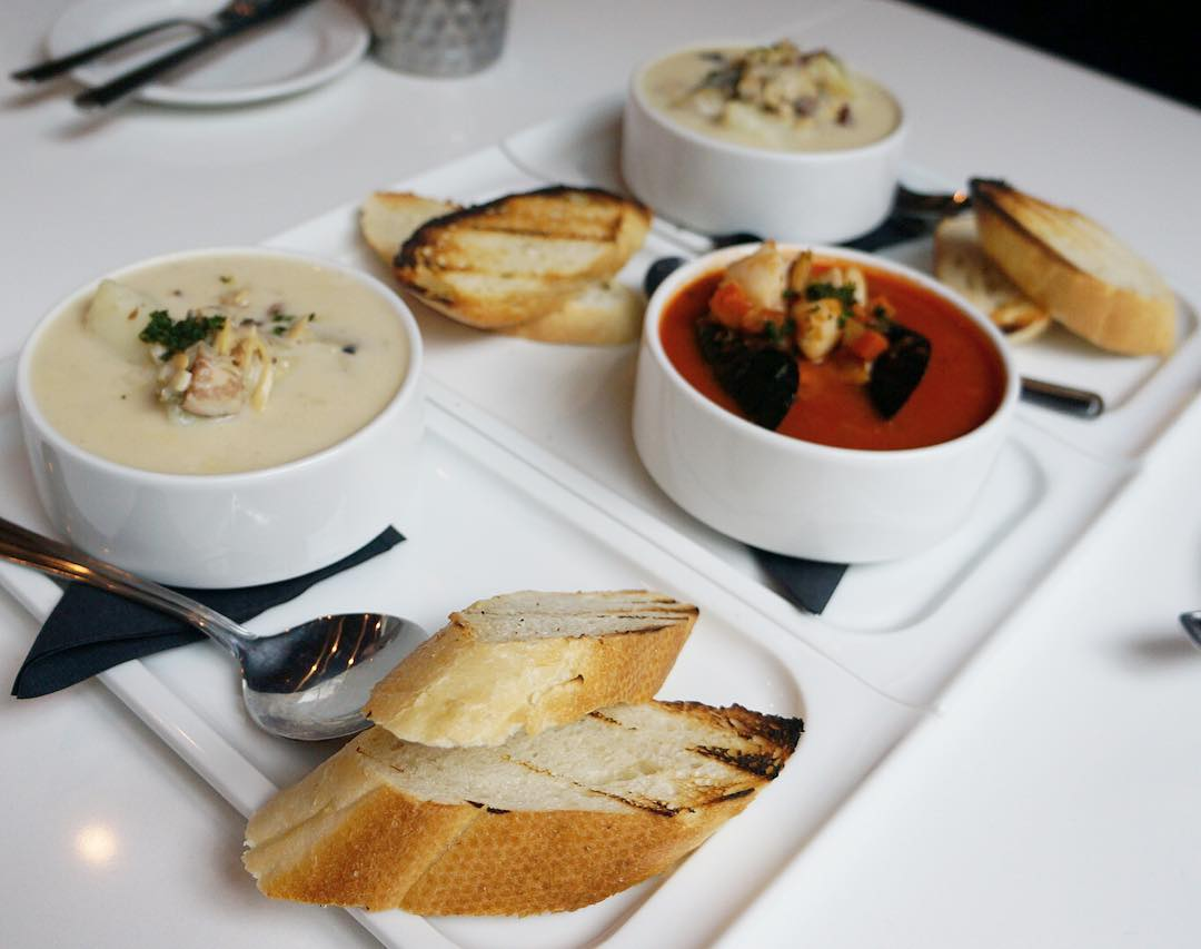 Grilled Bread Served With Each Soup