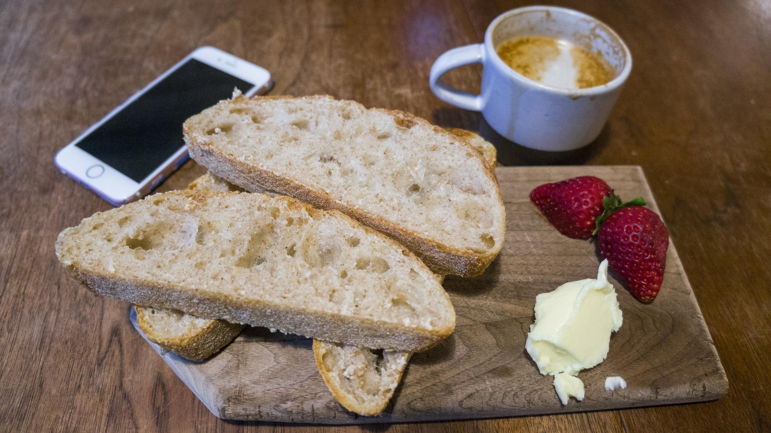 Sourdough Toast & Butter | Flat White