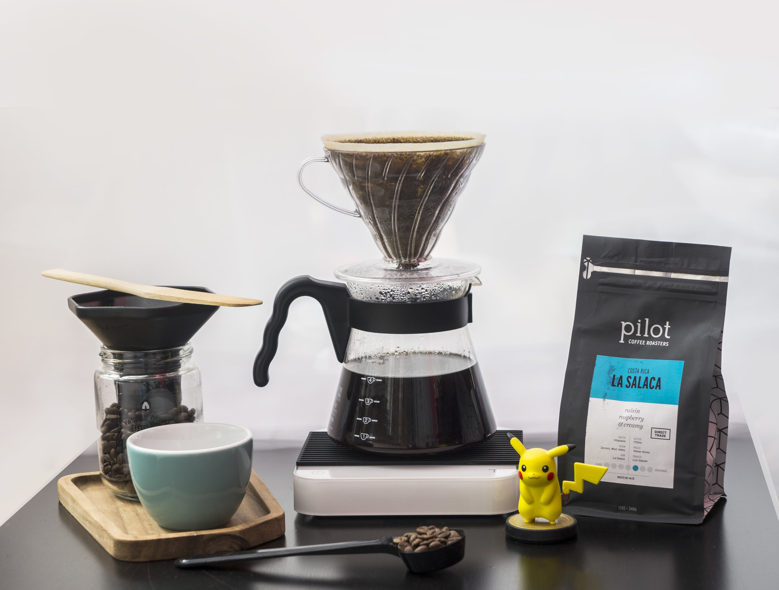 Making coffee at home with Pilot beans