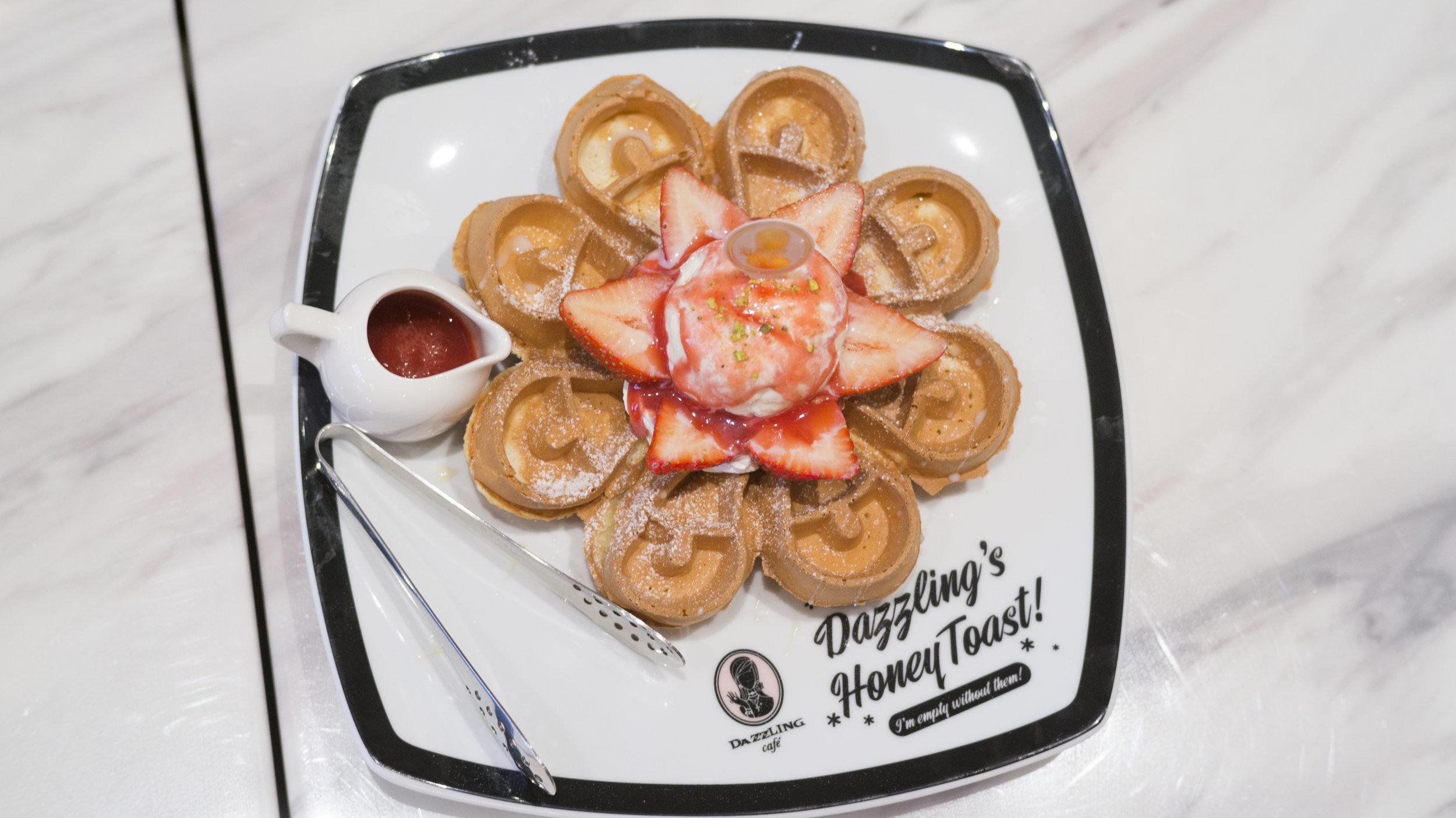 Strawberry & Ice Cream Waffle | $10.50