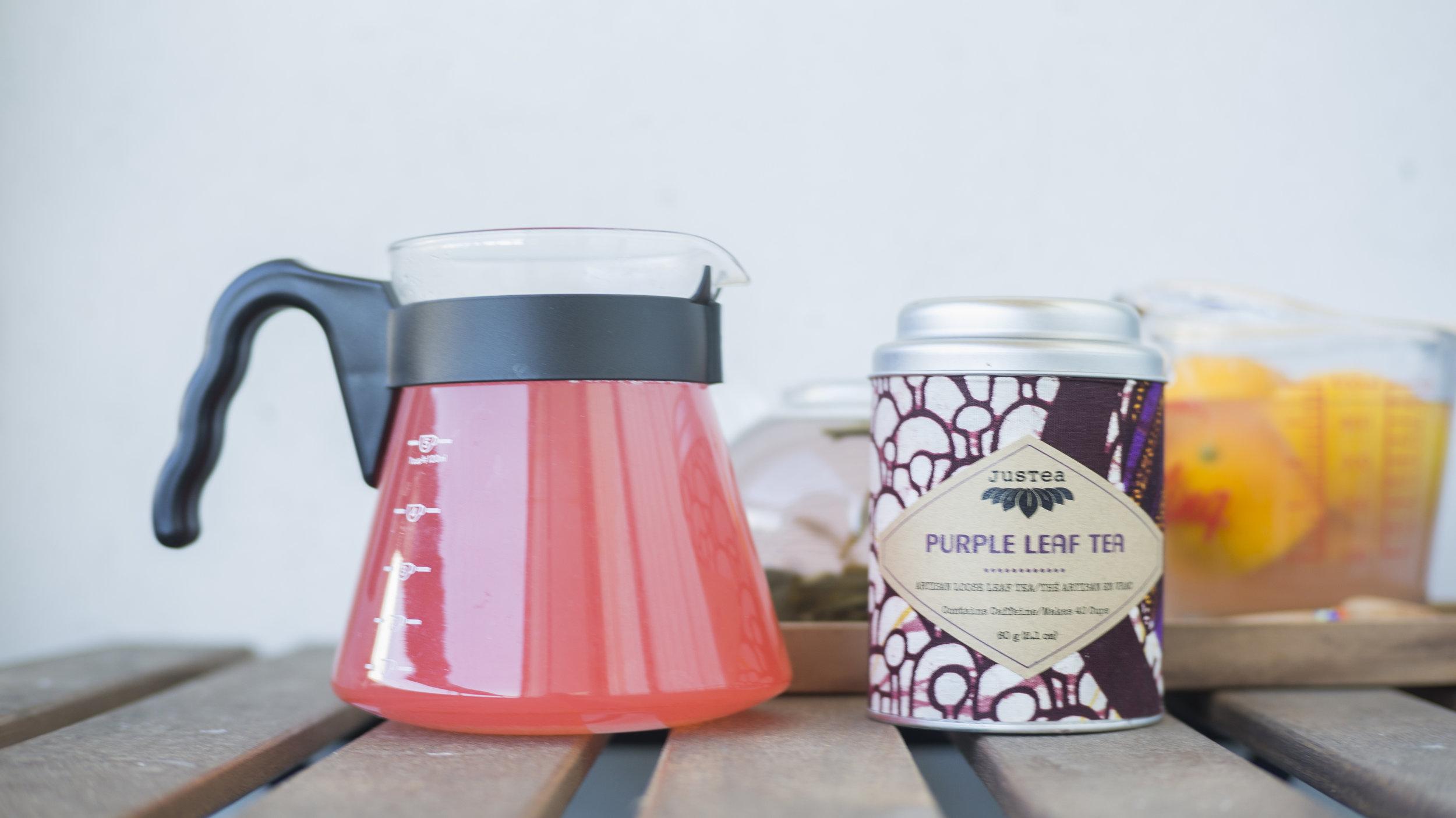 Purple Leaf Tea + A lot of Meyer Lemon