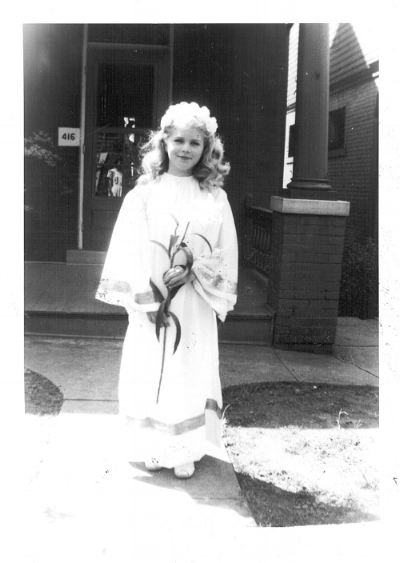 Rita at her confirmation, 1951