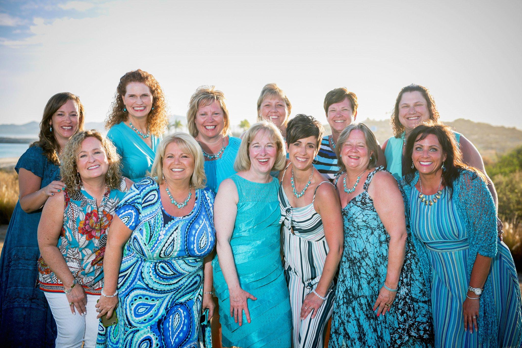Several Team Empower Leaders. Left to right: Marlisa, Marianna, Madelyn, Tami, Pam, Cheryl, Melody, Sheri, Kim, Sheralyn, Lori, Bridget