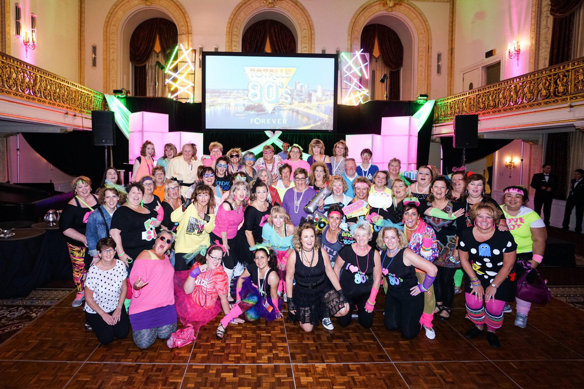 Several members of Team Empower at the FOREVER Live! 2018 Convention in Pittsburgh, PA. They had a great time with the 80s theme!