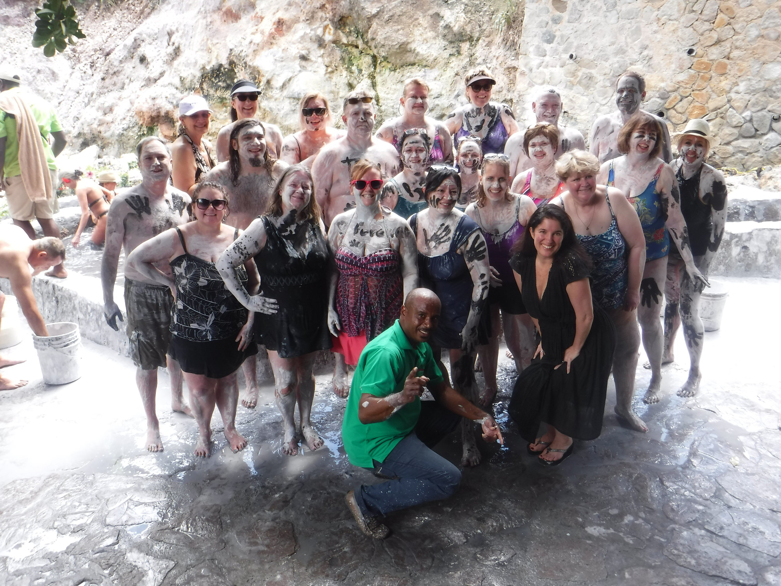 We were told that the volcanic mud would make us look 10 years younger! The jury is still out.