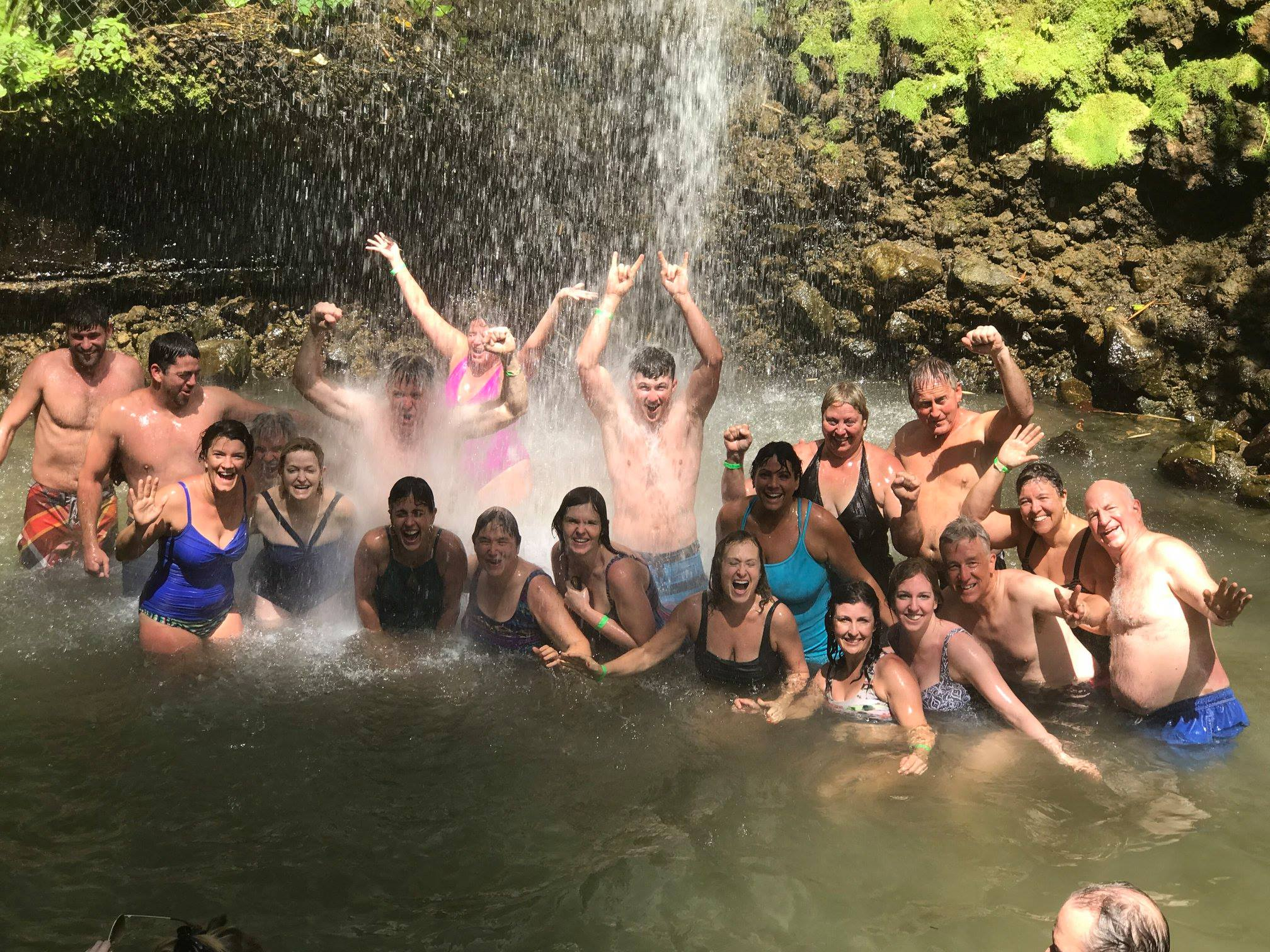 "After the hot mud baths, our ""power shower"" felt incredibly refreshing!"