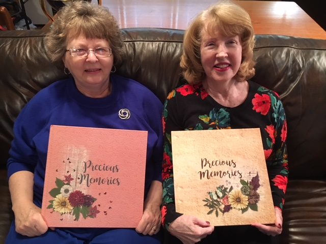 Linda and Cathy with their books!