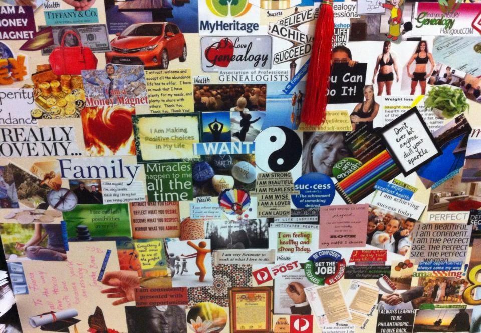 Pictured Above: Alaina's dream board