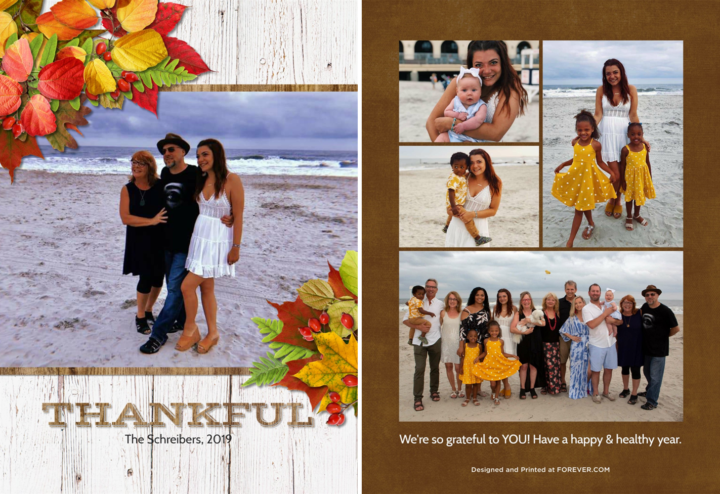 My Thanksgiving card, made in  FOREVER Design & Print.