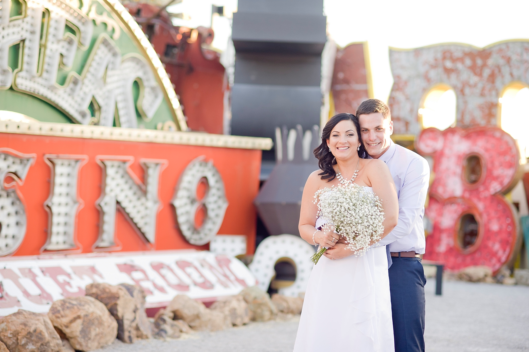 Venue:  Neon Museum  | Florals:  Miss Daisy  | Hair & Makeup:  Amelia C. & Co.