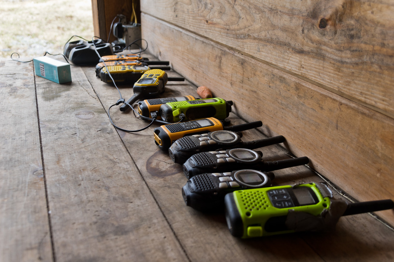 charging up the radios for the spring season, photo by Adam Ford