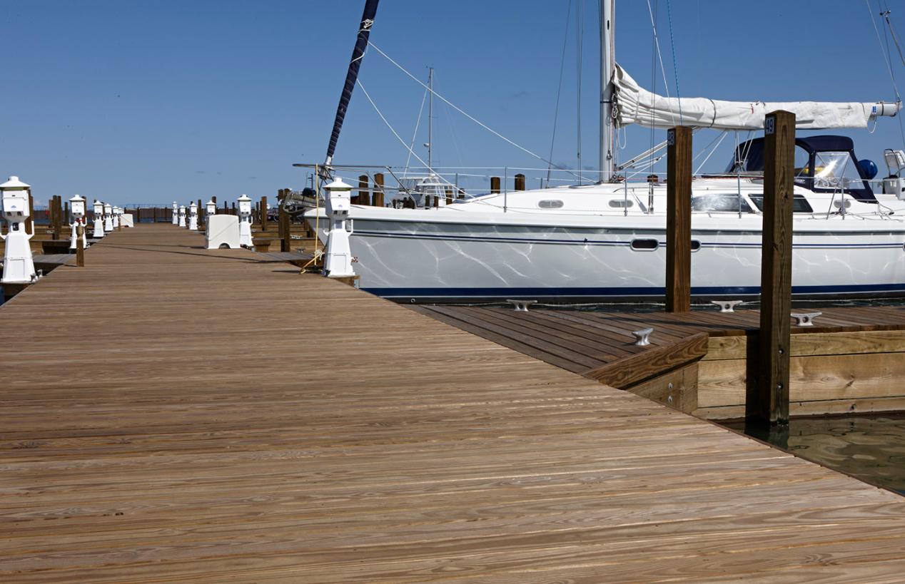 wood dock decking