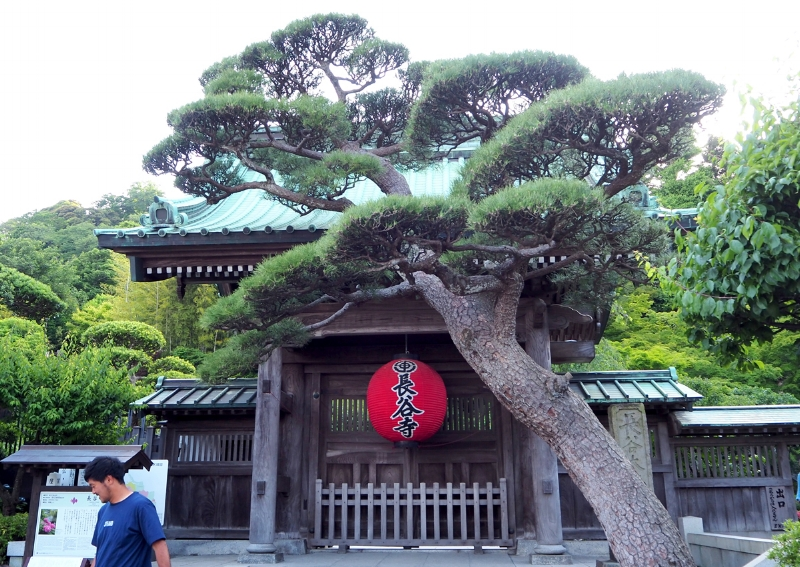 The entrance to Hase-dera Buddhist temple.