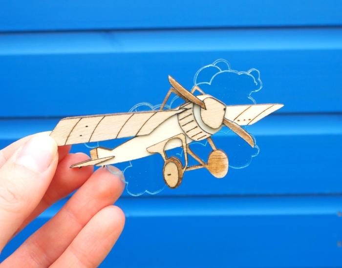 kate rowland aeroplane brooch