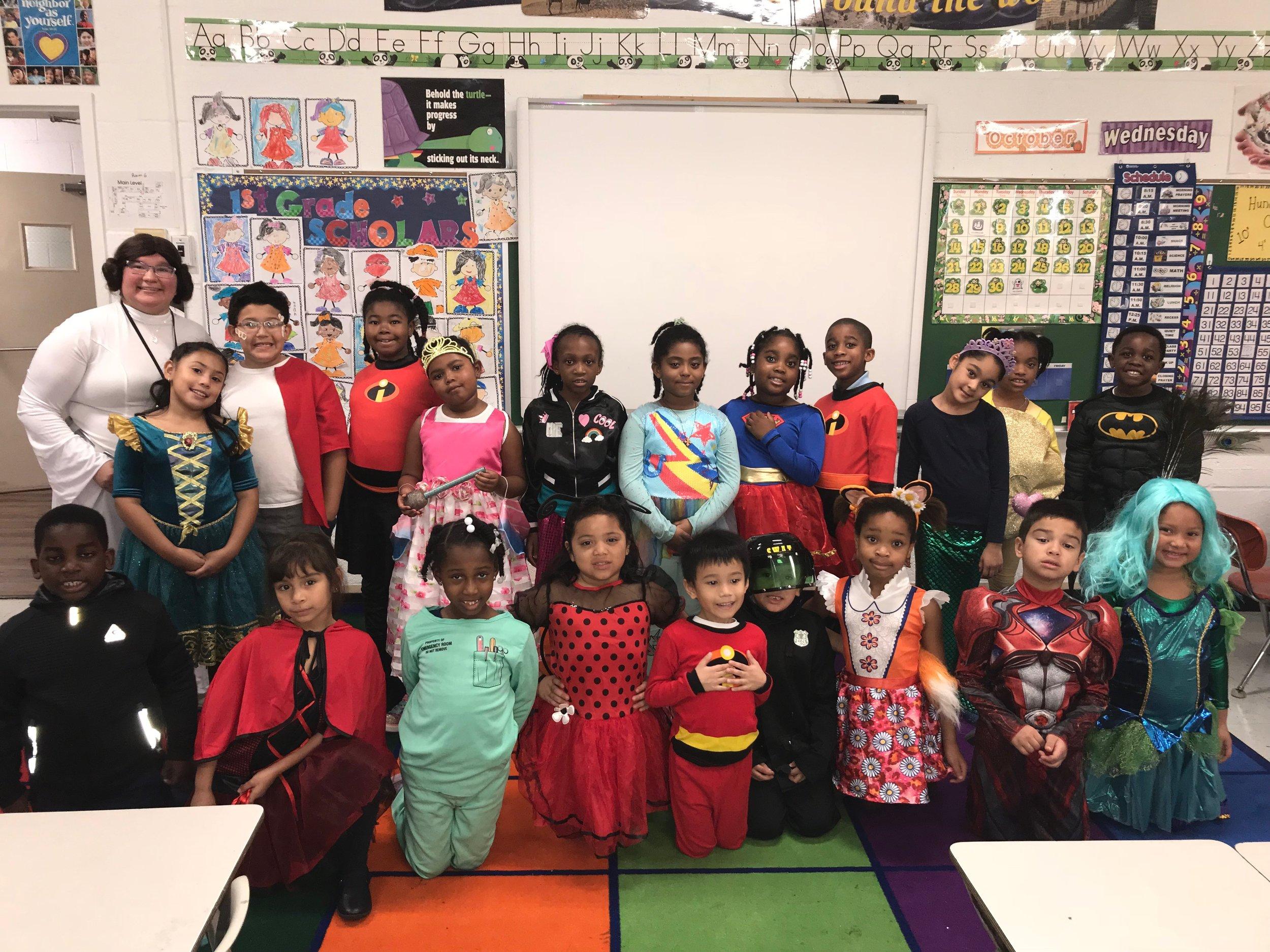 First Grade Halloween Costumes - October 31, 2018