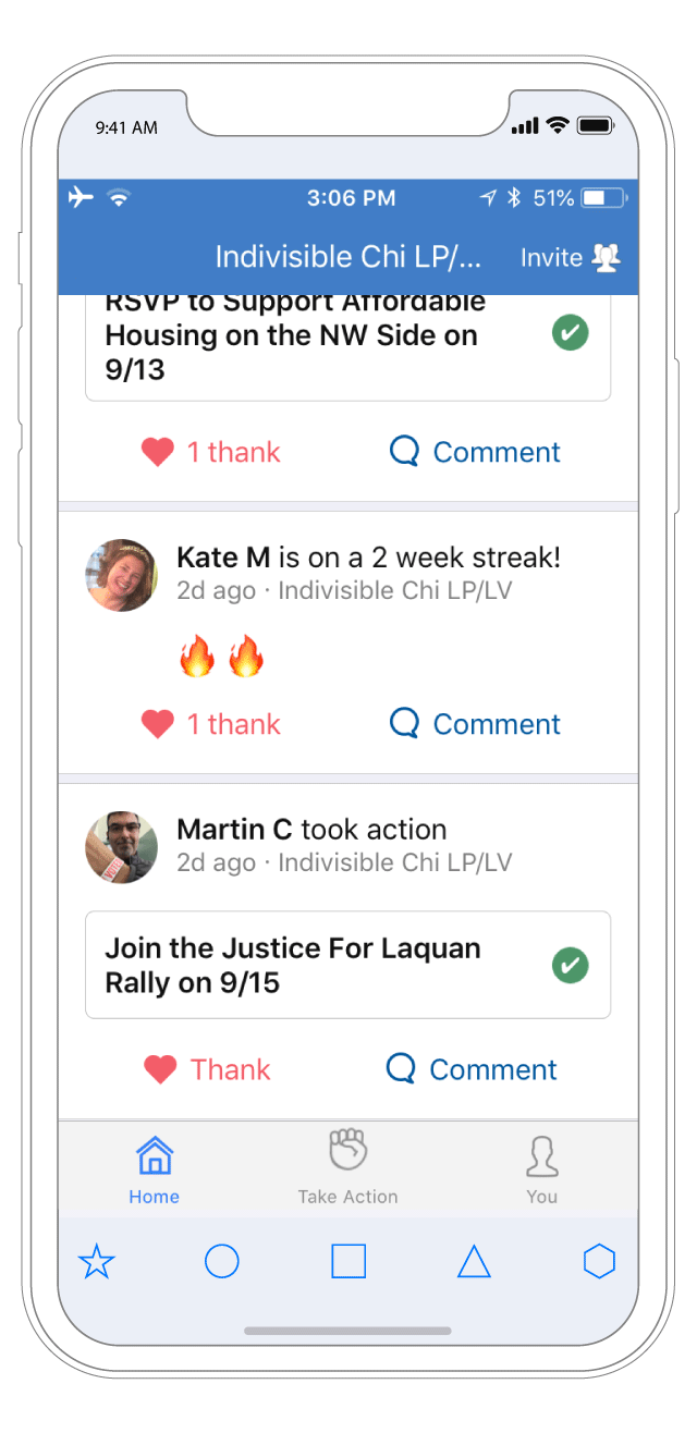 Motivation and Encouragement . See what actions other members are taking and cheer them on. Follow personal and group achievements.