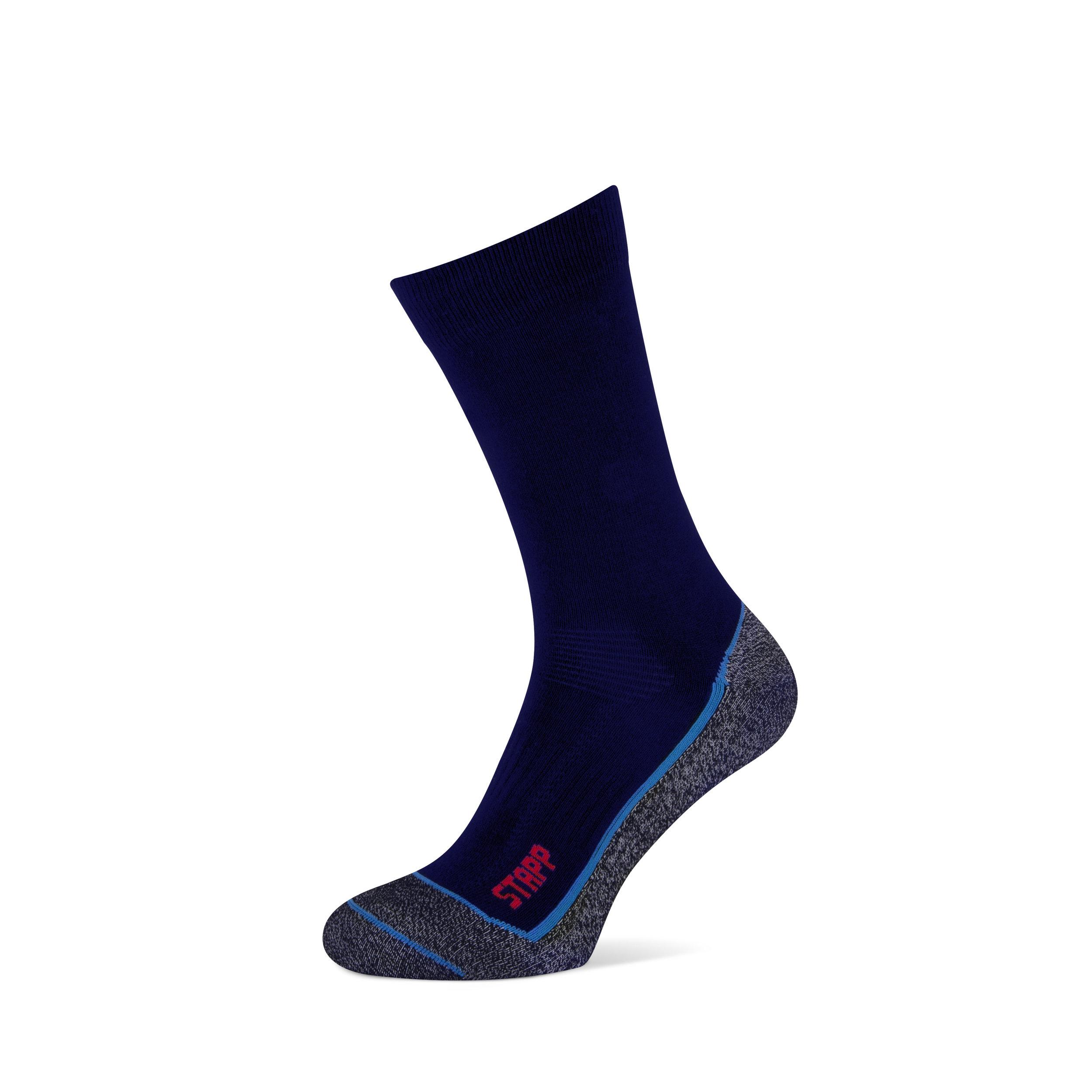 Boston Cool   • COOLMAX® vierkanalen vezel zorgt voor betere vochtverdamping en houdt voeten droog • CORDURA® voor extra versterking en slijtvastheid.  • Gladde dunnere werksok speciaal ontwikkeld om te dragen in warme omstandigheden. Extra versterking van hak en teen • Ventilatiekanalen voor betere luchtcirculatie.  • Perfecte pasvorm en elastische boord voorkomt afzakken • Vlakke niet voelbare naad aan de teen • Beschikbaar in 2 kleuren