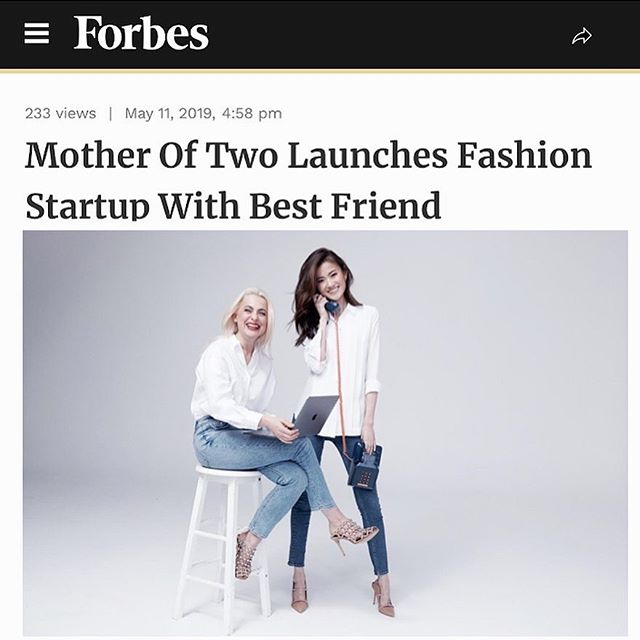 ⠀⠀⠀⠀⠀⠀⠀⠀⠀ ✔️female founders ⠀⠀⠀⠀⠀⠀⠀⠀⠀ ✔️San Francisco based ⠀⠀⠀⠀⠀⠀⠀⠀⠀ ✔️besties on a mission to make kids fashion a breeze 🙌 ⠀⠀⠀⠀⠀⠀⠀⠀⠀ Love to see my badass clients featured in @forbes wearing #mymakeup and hair by the mega talented @jasminesott