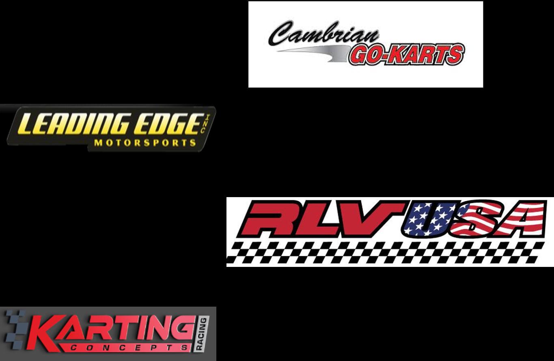 Nearby vendors - Cambrian: www.cambriangokarts.com|408.377.5278 -Birel, Rotax, ERC racing fuels, etc.Leading Edge: leadingedgeguy@sbcglobal.net www.leadingedgemotorsports.com|209.369.0921 -Praga dealerRLV: info@rlv.com|www.rlv.com|805.925.5461 -VLR dealerKarting Concepts: kartingconcepts.com kartingconcepts@gmail.com|530.574.1898 -Comp Kart dealer
