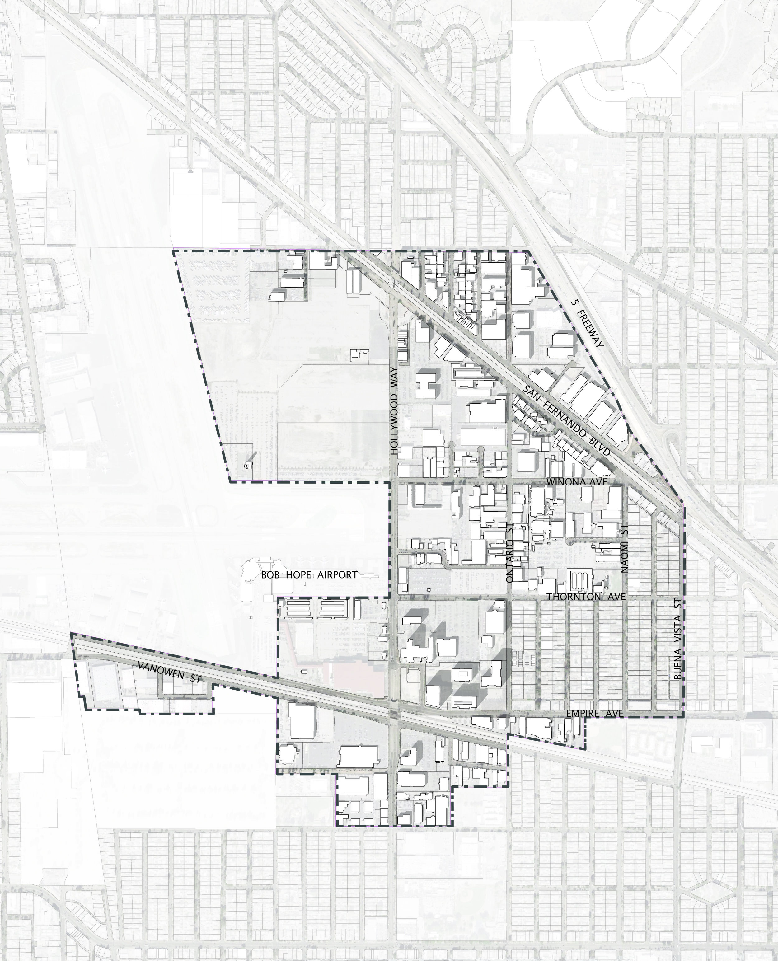 The Golden State District occupies 640 acres east of Burbank Airport. Read it's story here.