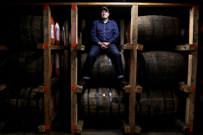 Joe Heron, owner of Copper & Kings American Brandy Company, at his distillery in Louisville, Ky. He is aiming to reorient the brandy category toward younger, hipper audiences.CreditAaron Borton for The New York Times