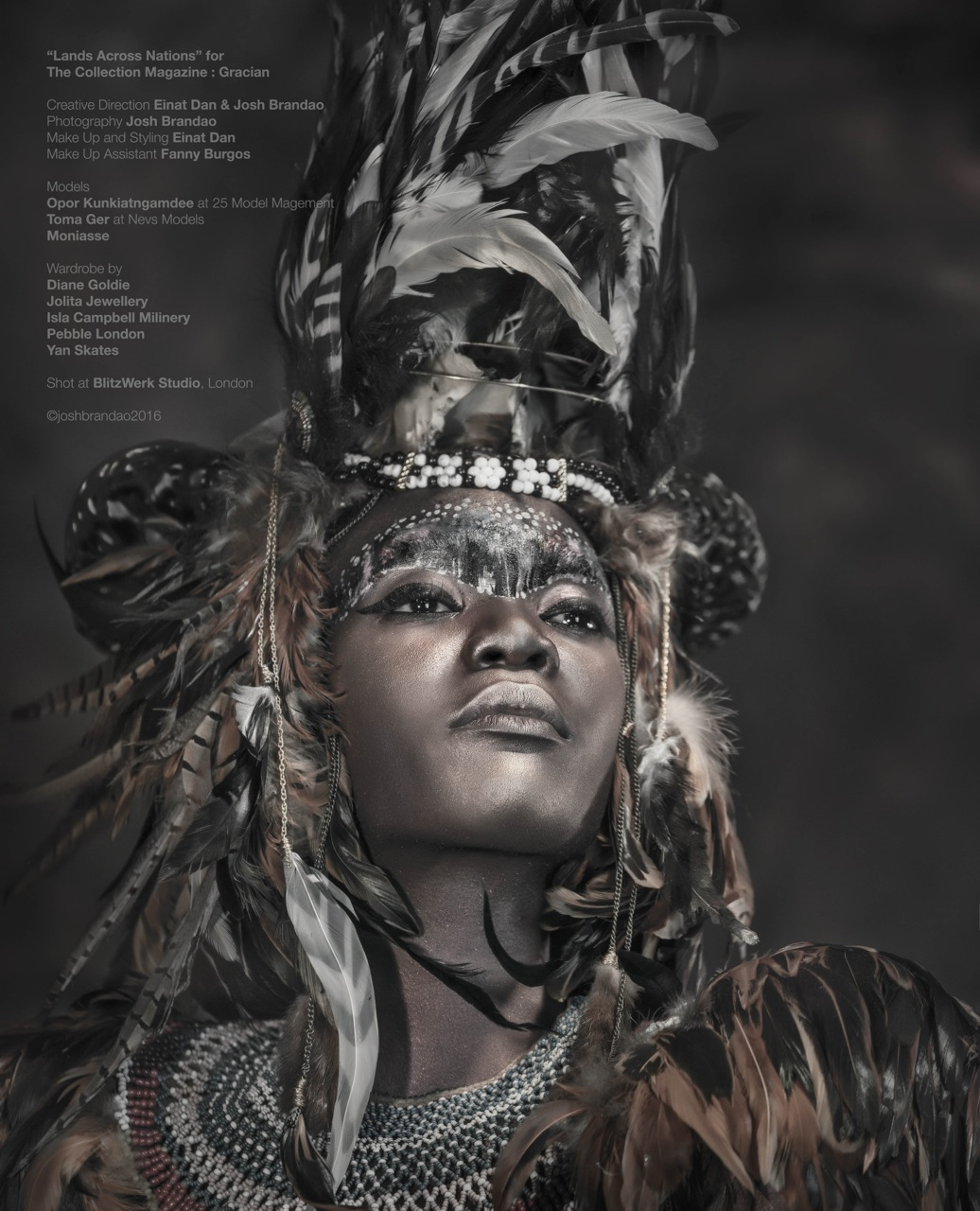 Gracian Magazine - Lands Across Nations - Diane Goldie Einat Dan Isla Campbell Millinery Josh Brandao Moniasse Pebble London Jolita Jewellery