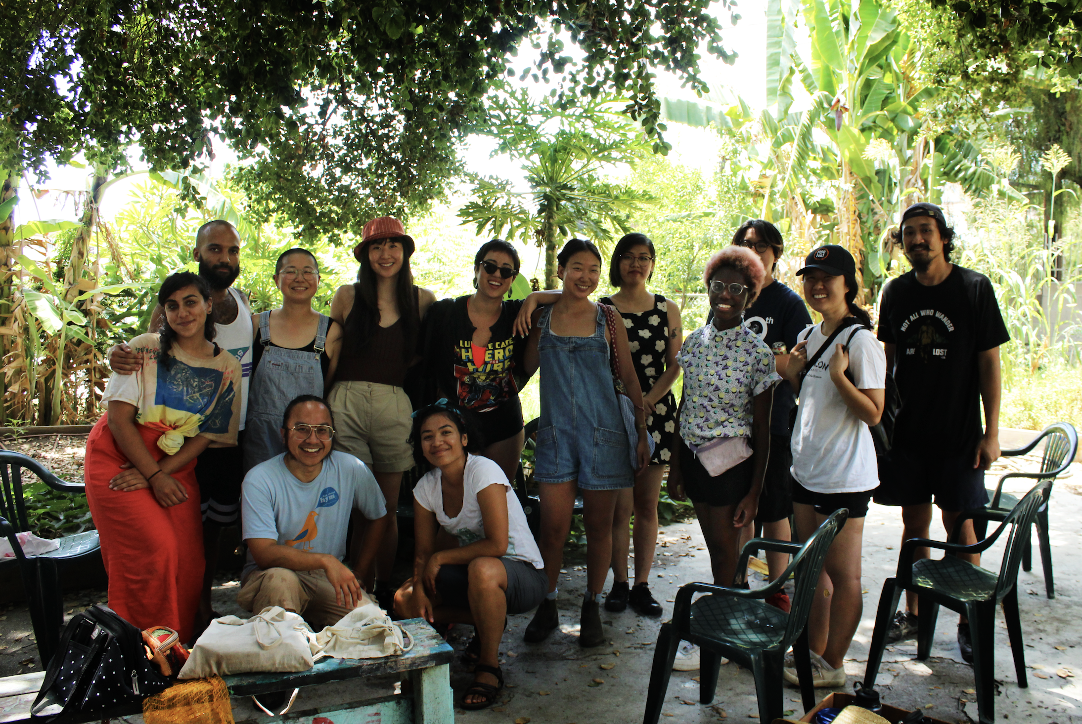 members of  the los angeles worm farm collective  , amwa,  equal action,  and  los angeles spoonie collective  at lawfc in east, los angeles.