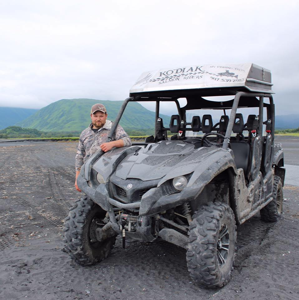 Julian Hiner of Kodiak Salmon Riders ATV Off Road Adventures in Kodiak Alaska Salmon Fishing or Bear Viewing  Excursions