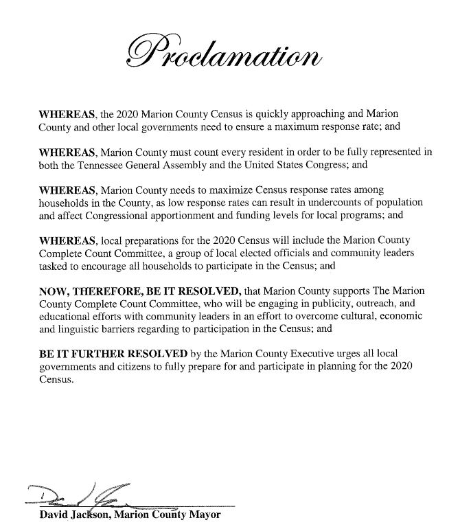 2020 Census Proclamation.JPG