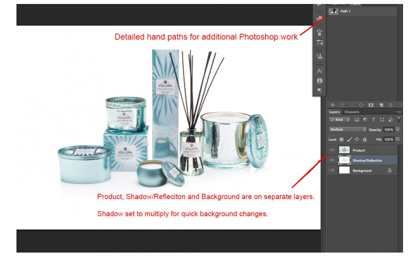 *Note About Illustrator and Indesign   Illustrator and Indesign - while they are both Adobe softwares - handle transparency and paths differently than they do in Photoshop, which causes unexpected results on import. We cannot create a file that will work equally for both software sets without sacrificing usability for one or the other. Because of this, we prepare our images for Photoshop (which the majority of our customers use when editing images) and do not recommend using Illustrator or Indesign for editing photos, especially transparency related composites.     Read More About Known Issues When Importing Files Into Illustrator/Indesign