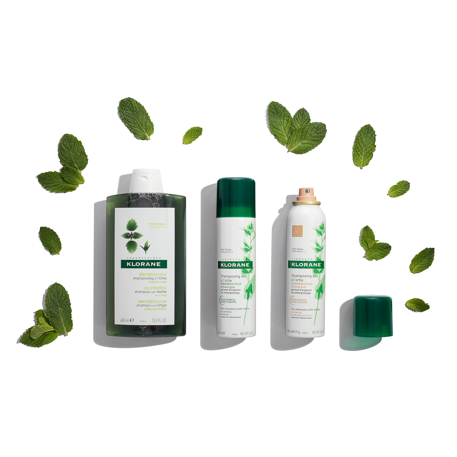 Styling these products with the fresh leaves gives a clean, fresh look to the photo!