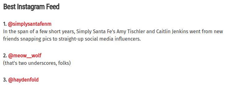 Best Santa Fe New Mexico Instagram Feed @SimplySantaFeNM