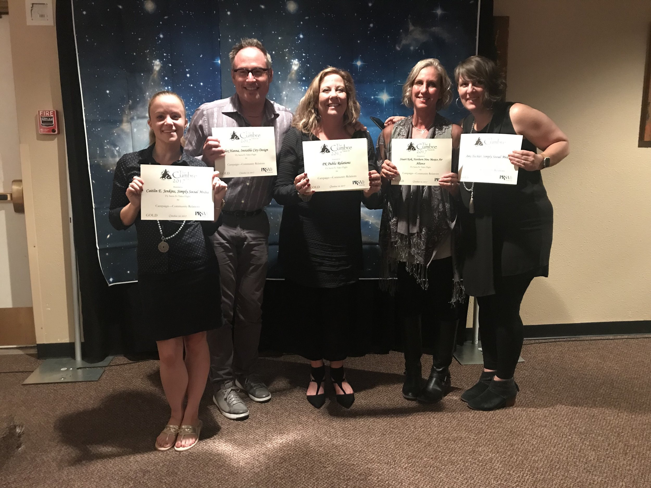 Fly Santa Fe Campaign Team with our GOLD Cumbre Awards