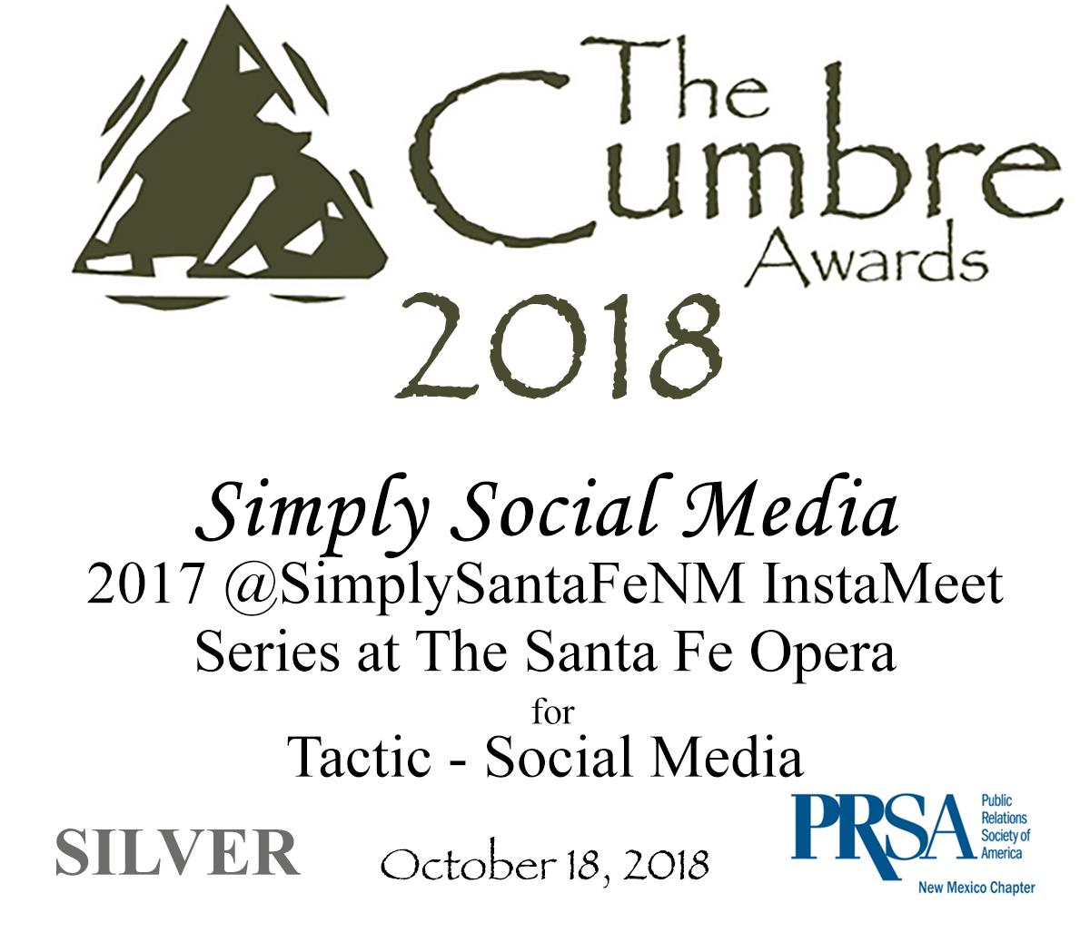 Simply Social Media 2017 sfo InstaMeet Silver Cumbre Award 2018.jpg
