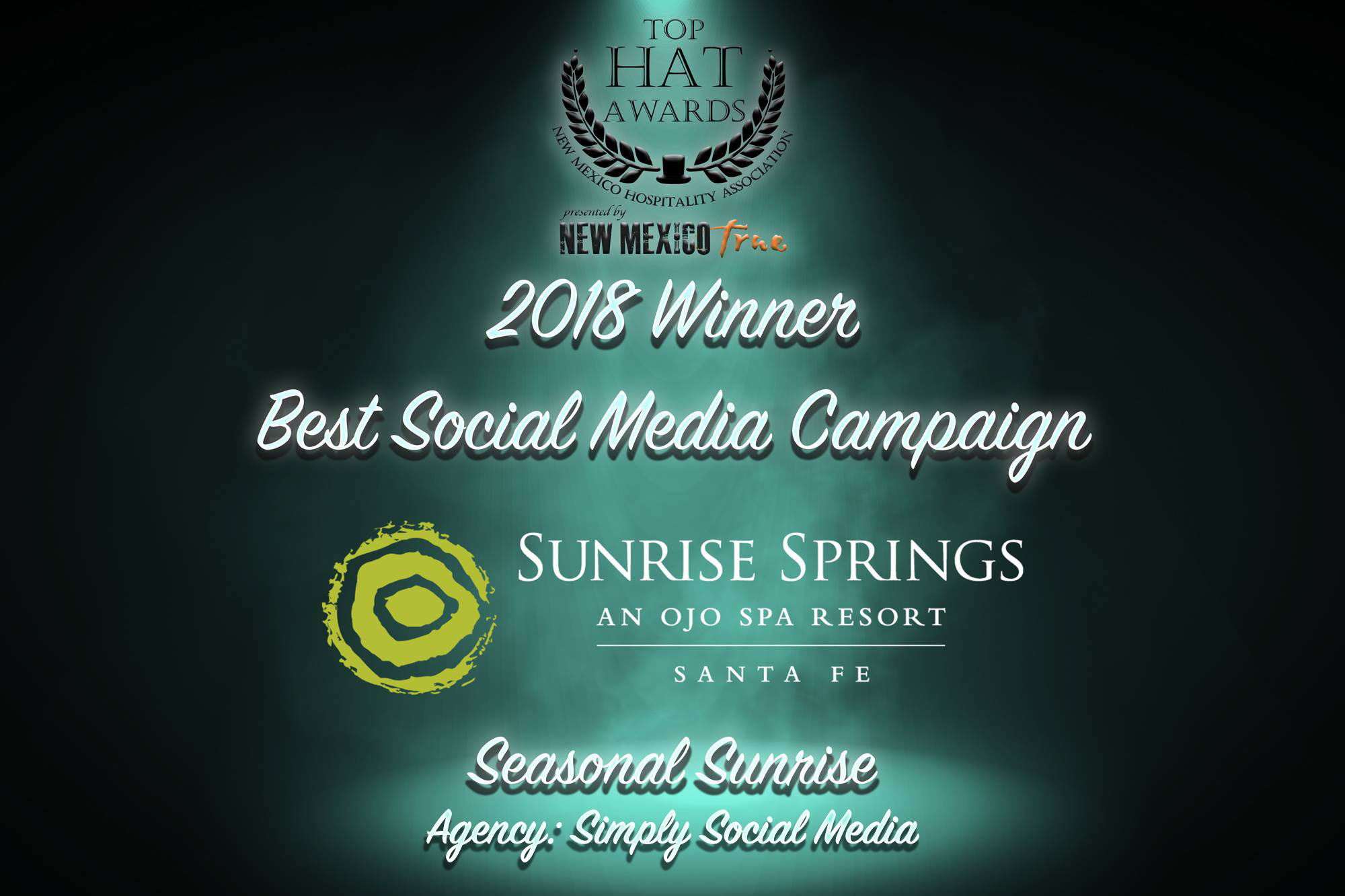 2018 Top Hat Awards Best Social Media Campaign Santa Fe Sunrise Springs Influencer Marketing.jpg