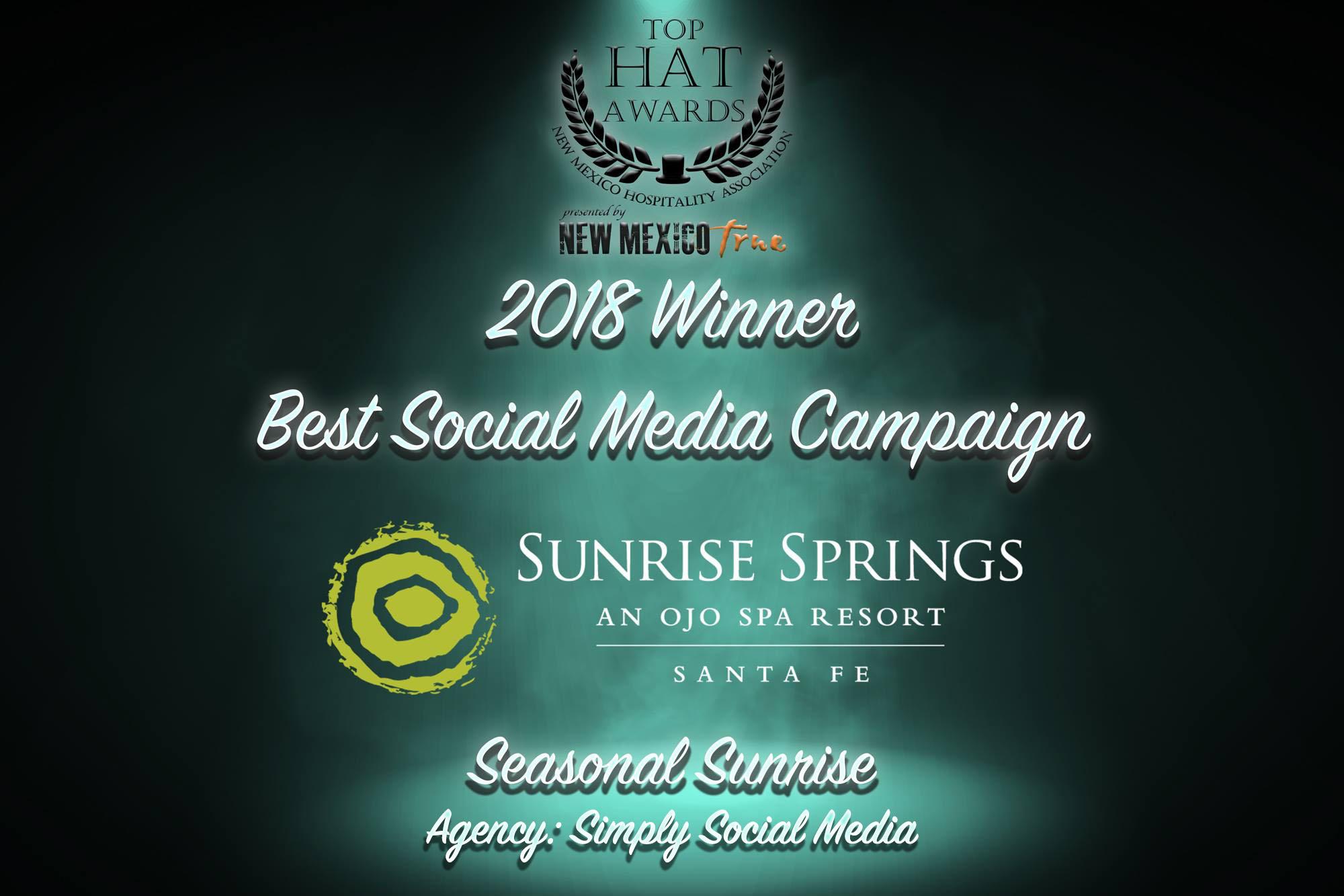 2018 Top Hat Awards Best Social Media Campaign Simply Social Media Santa Fe.jpg