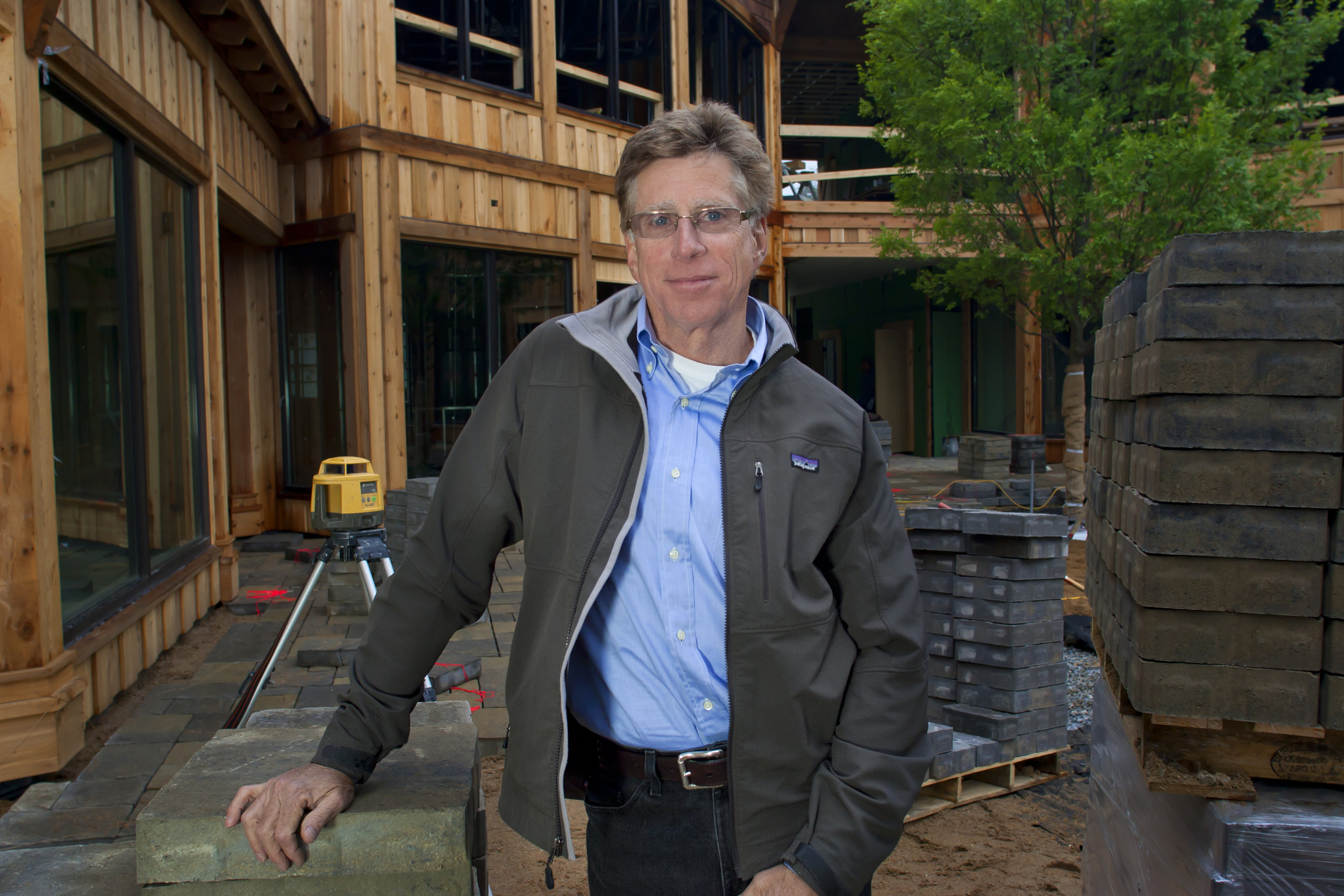 John Lupoli at Town Square in Highlands, a project which was granted the Design of Merit award by the Governor and the NC Small Town Main Street Program in 2012.