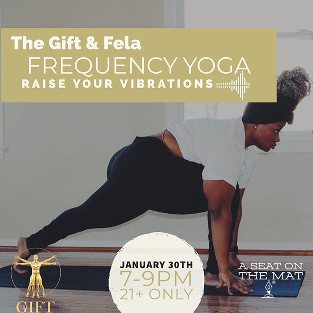 Frequency Yoga by @thegift420dc with Fela! We'll talk yoga, learn breathing techniques as a tool to empower your life, we will move connecting the breath, body, and mind. We will flow. We will vibe and raise the collective Frequency. •••• I invite you to join me on this infused journey to your Self! Elevate your minds with your herbs or @thegift420dc herbs then RAISE your vibrations with YOGA in an elegant 4-20 private space. Link in Bio!! Hope to see you there!! #yoga #aseatonthemat #yoga #dmvyoga #dmvevents #blackyogis #420 #dc