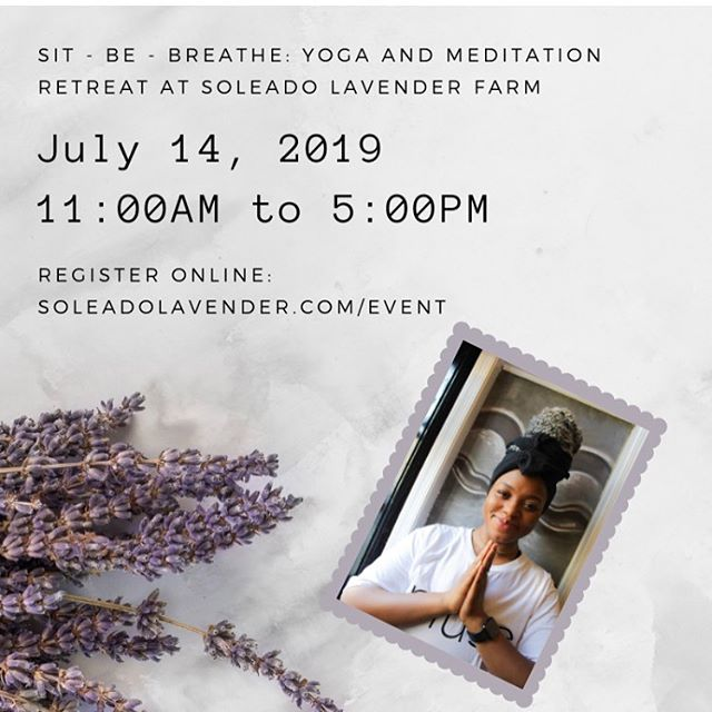 Life is about self-realization , we realize our Self through YOGA. •••••••••••••••• It's my humble honor to work with @soleadolavender to present a yoga & meditation retreat this Summer! Make time for yourself and connect with the world 🌍 within you and around you!! Lunch, gift bag, and safe space are included!  Hope you'll join me 💕 #yoga #yogaretreat #aseatonthemat  #lavender #enviornment #nature #nurture #selflove #selfrealization