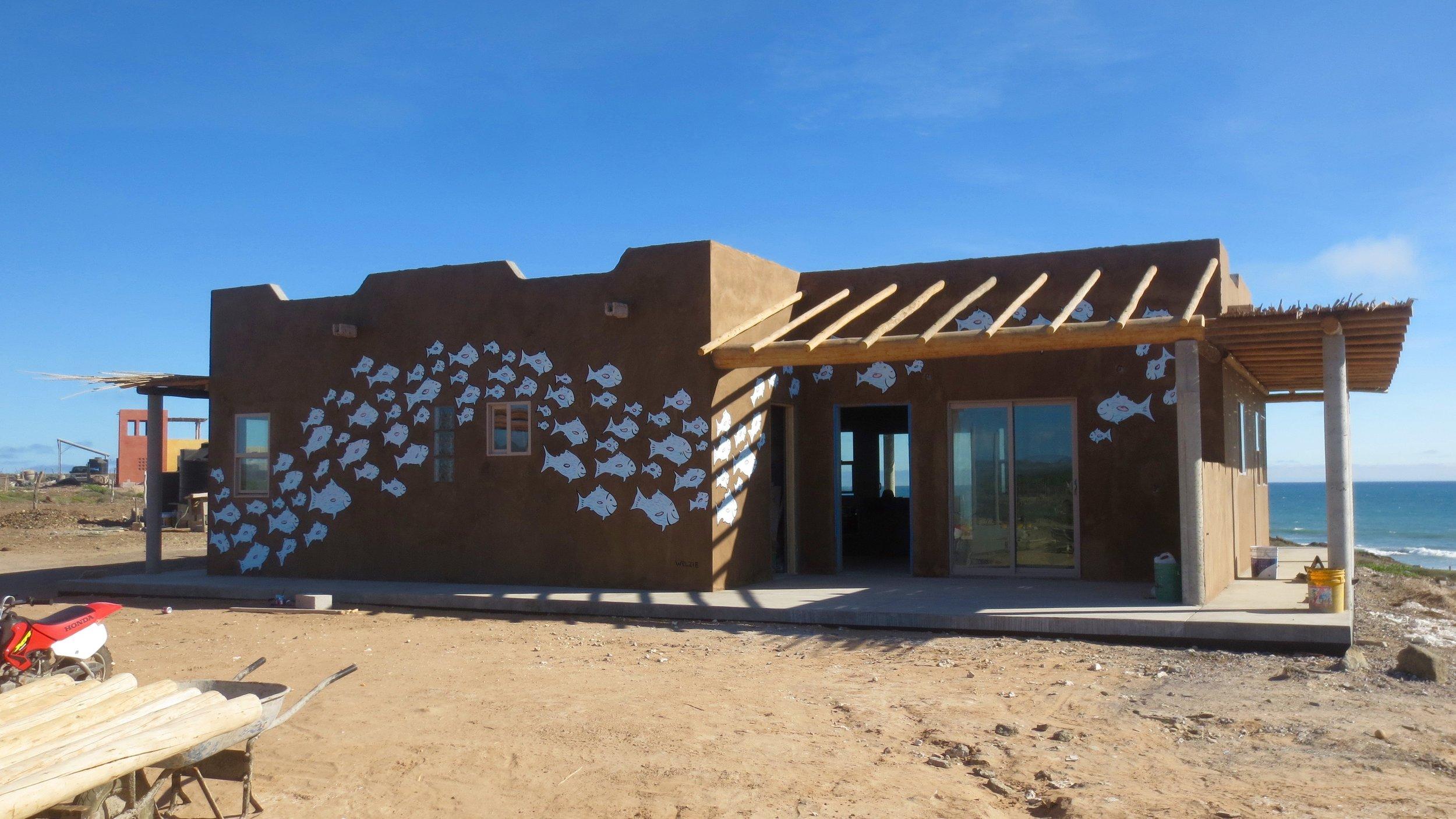 The House we painted in San Juanico, Baja California