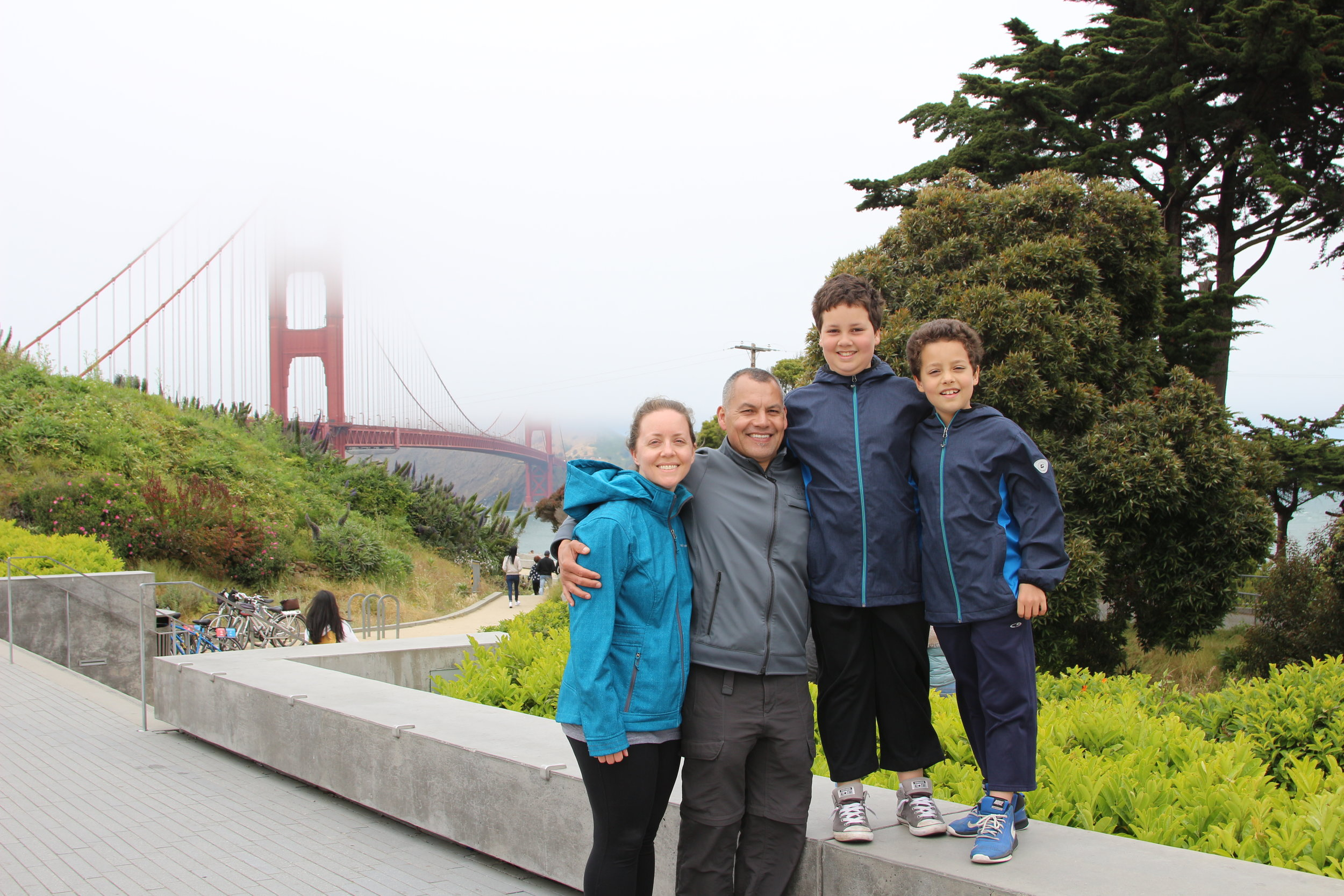 My family on our recent trip to San Francisco,CA