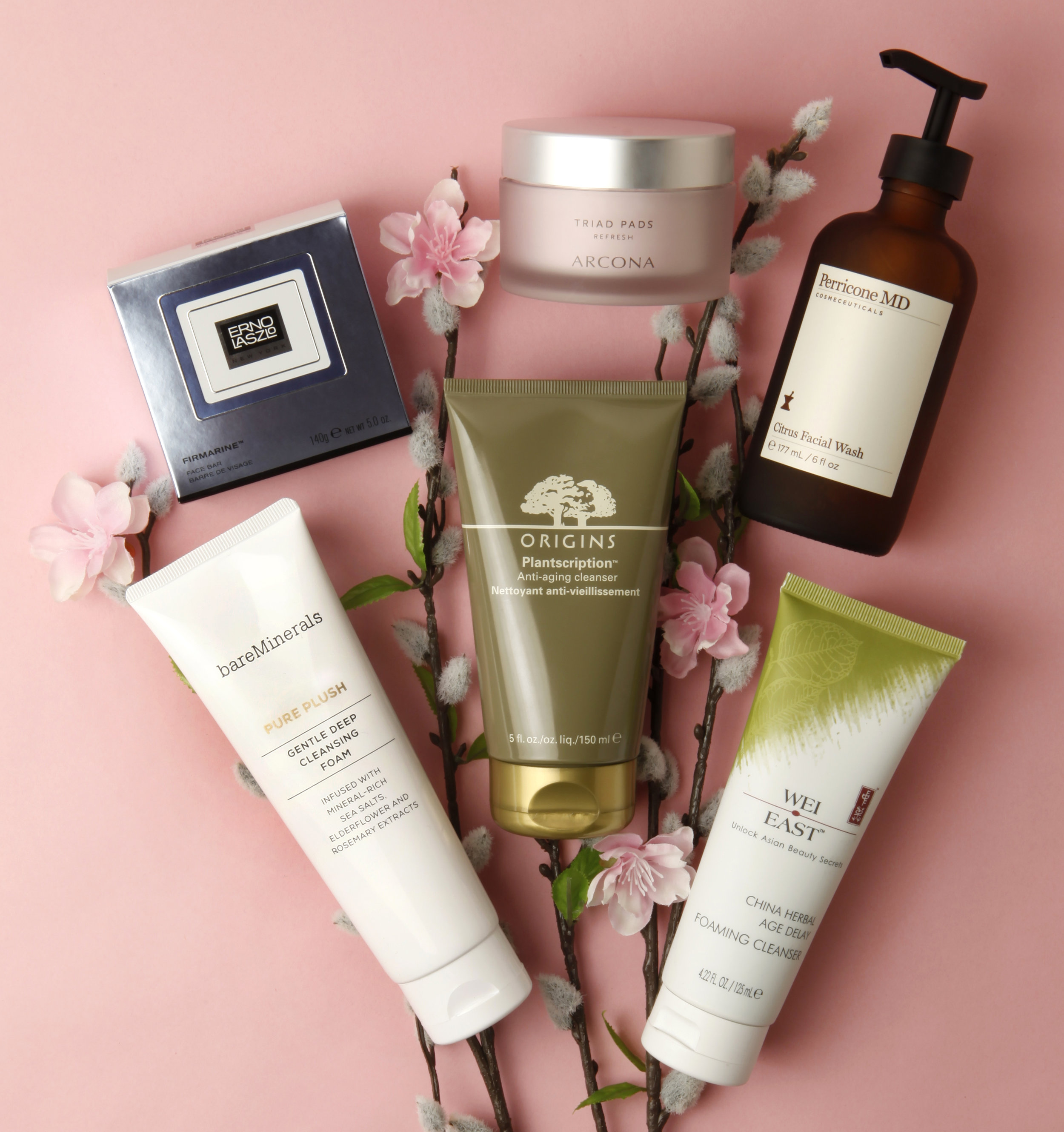 product photography seattle still life spring skin care flowers