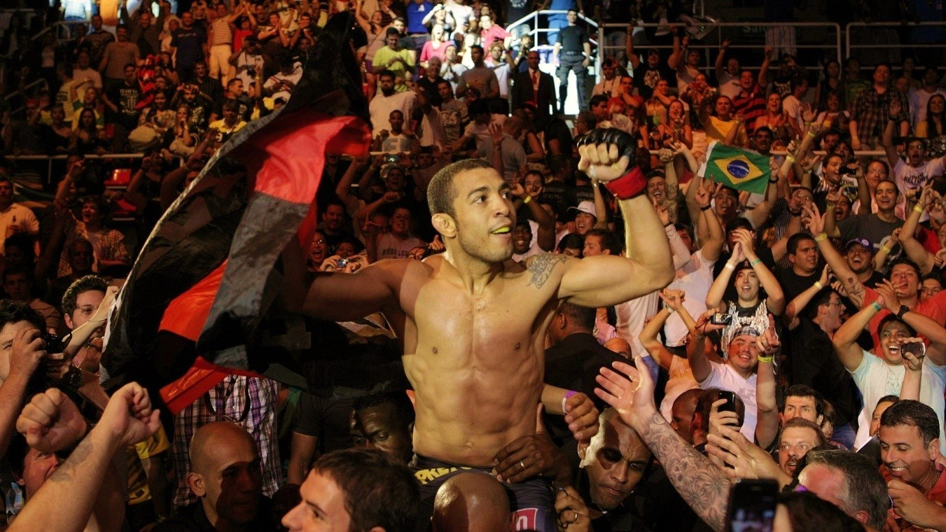 Hometown hero: Aldo celebrating a win over Mendes